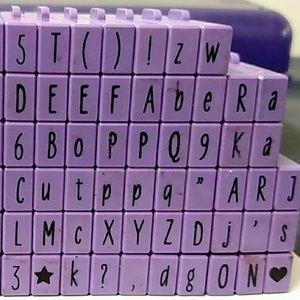 Alphabet Rubber stamp block